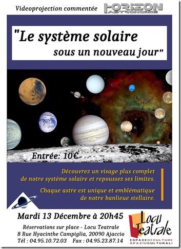 Vidéoprojection commentée  « Le système solaire  sous un nouveau jour »