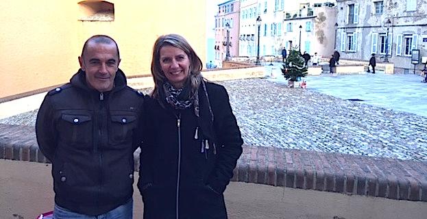 Christine Olivier, créatrice et commerçante de la Place Guasco qui a eu l'idée d'organiser ce premier marché de Noël