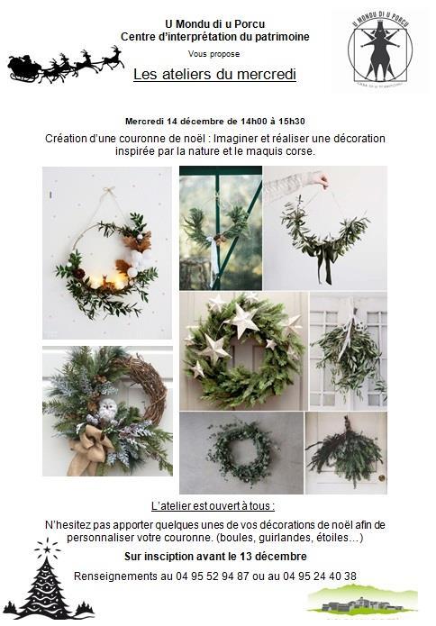 Cozzano : Confection d'une couronne de Noël