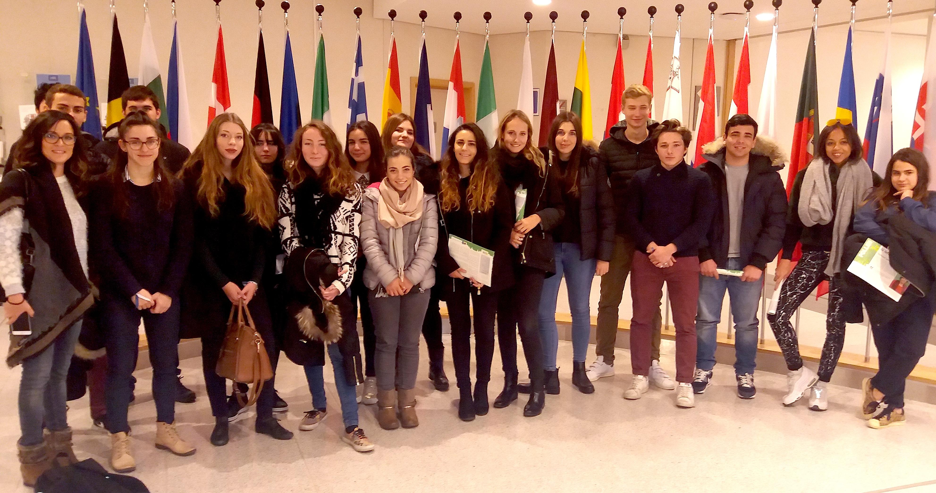 Deux classes du lycée de Balagne au Parlement européen