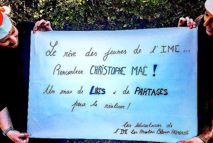 """Ajaccio : Les pensionnaires de l'IME """"Les Moulins Blancs"""" veulent rencontrer Christophe Maé"""