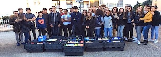 Ajaccio :  340 kg de denrées alimentaires récoltées par les élèves de 3ème du collège Lætitia
