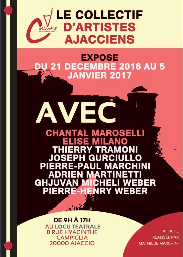 Le Collectif d' Artistes Ajacciens expose à Locu Teatrale