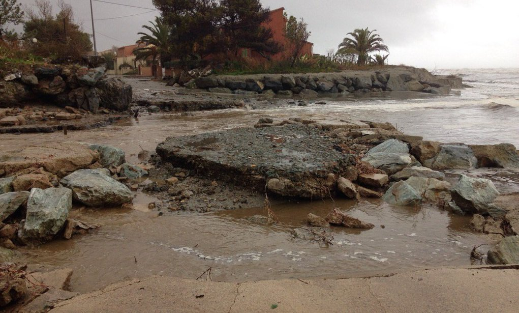 Intempéries : Trois personnes hélitreuillées à Vescovato. Risque de submersion marine à Taglio-Isolaccio