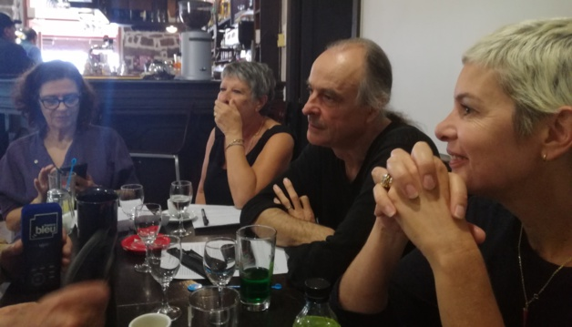 André Paccou et les membres de la LDH lors d'une récente conférence de presse