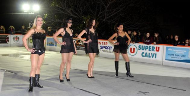 Défilé de mode sur la patinoire de Calvi le 28 décembre