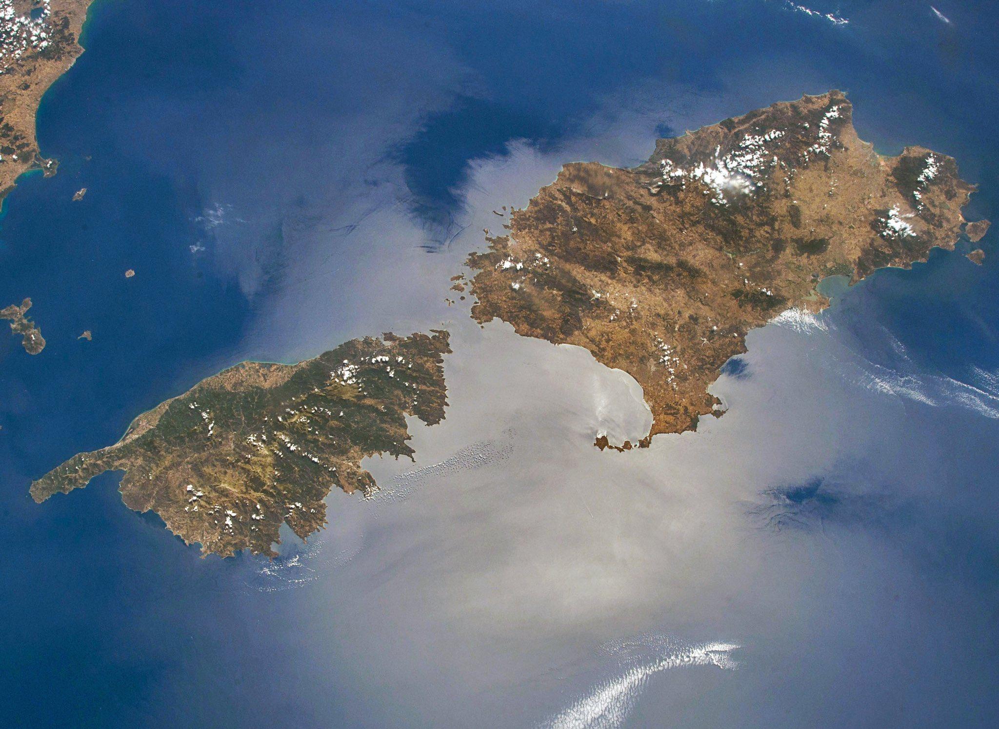 La Corse vue depuis l'espace