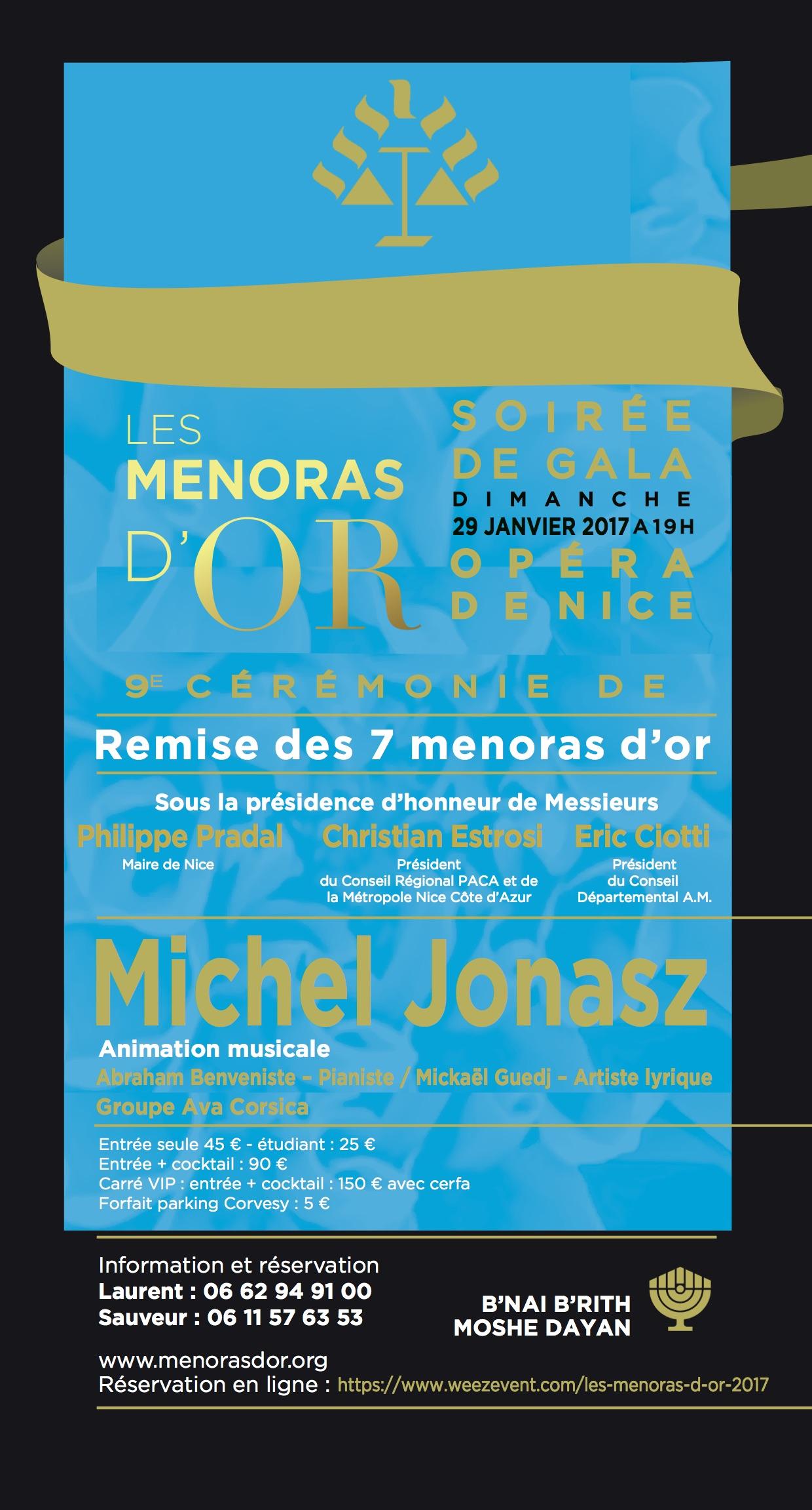 Nice : Les Menoras d'or rendront hommage à la Corse