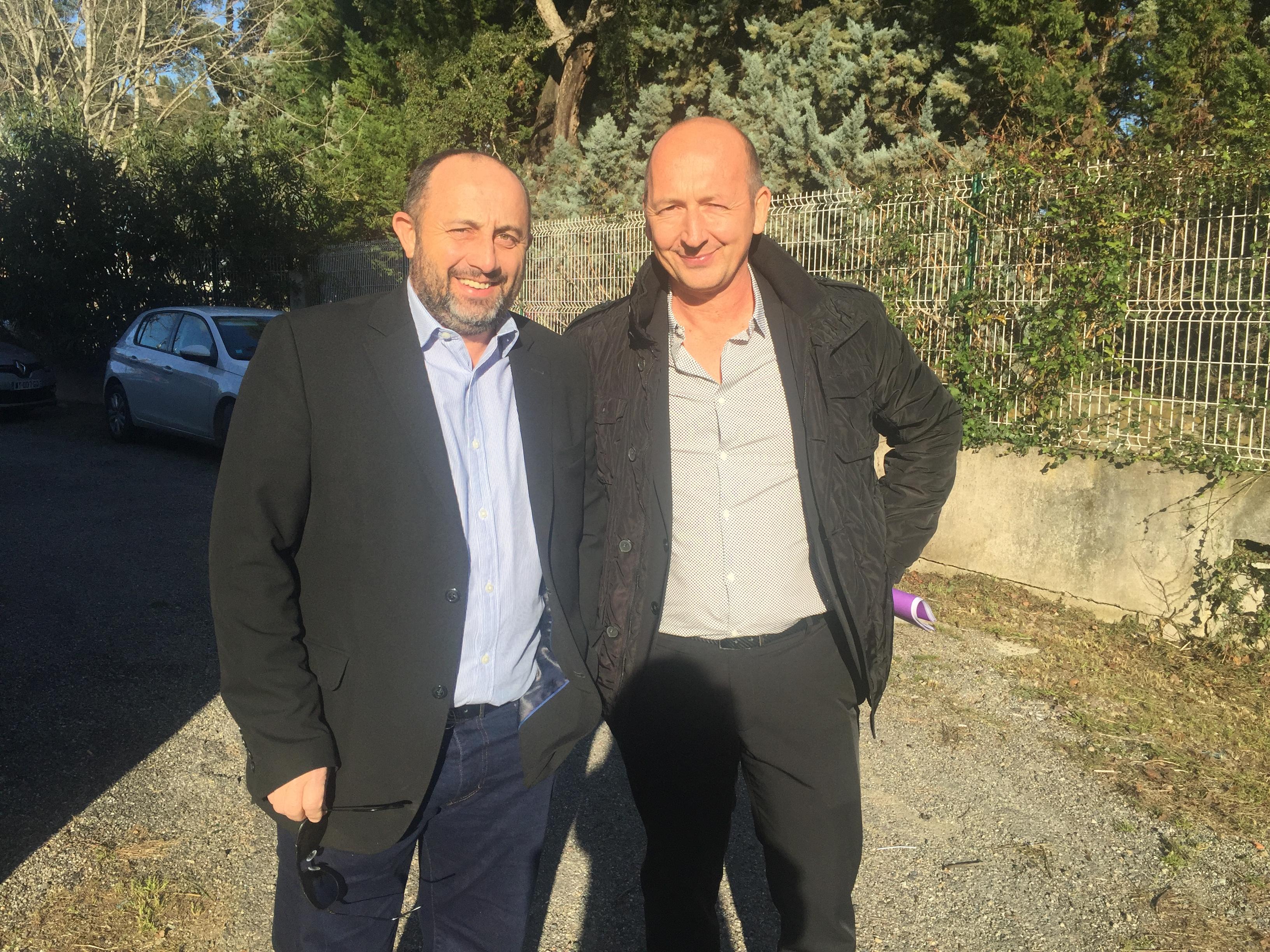 Le président Antoine Poli et son 1er vice-président, Benoit Bruzi