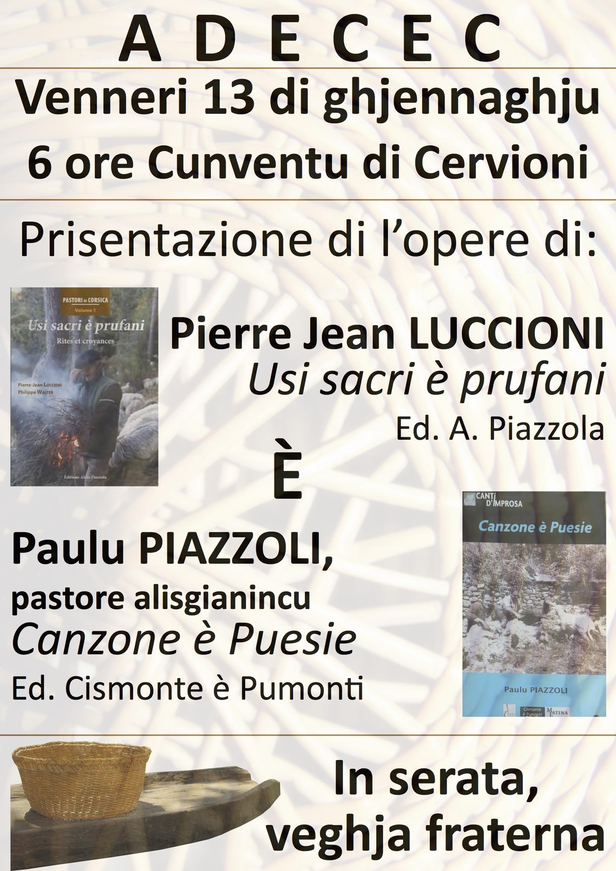 Adecec : Prisentazione di l' opera di Pierre-Jean Luccioni