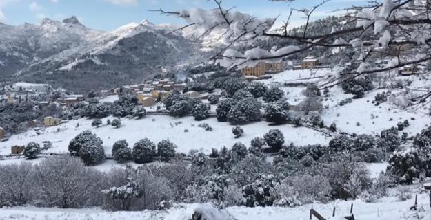 Olmi-Cappella sous la neige