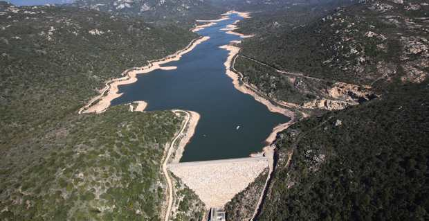 Le barrage de Figari.