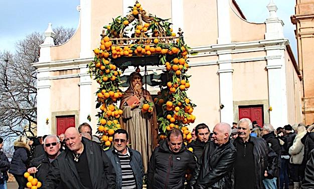 Aregnu a fêté Sant'Antone Abbate, son saint patron