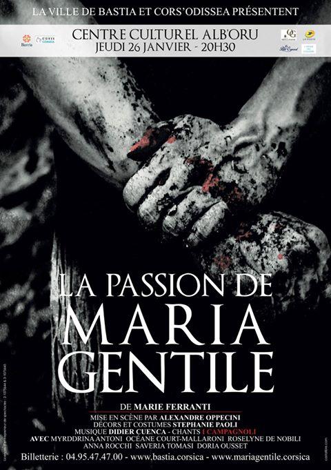 """La passion de Maria Gentile"" à l'affiche ce jeudi à l'Alb'Oru de Bastia"