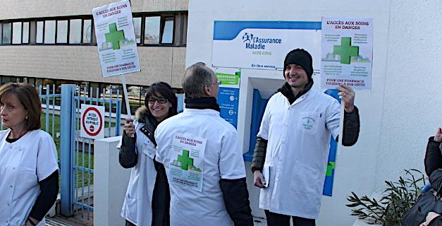 Bastia : Importante mobilisation des pharmaciens contre la baisse des prix de certains médicaments