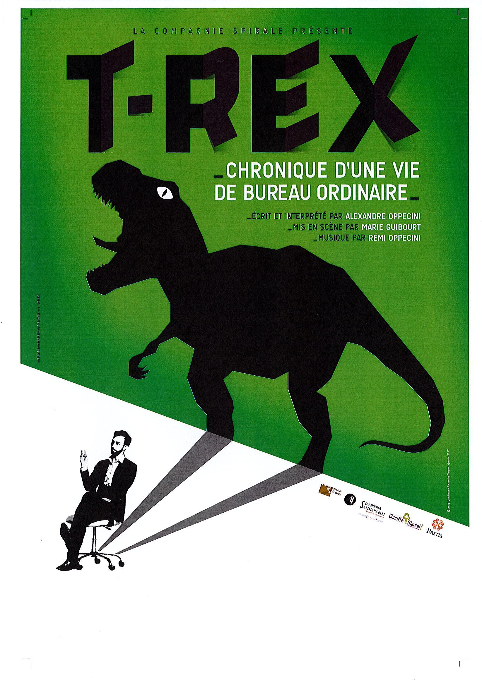 """Ajaccio :  """"T-Rex"""" d'Alexandre Oppecini, jeudi 2 et vendredi 3 février à l'Aghja"""