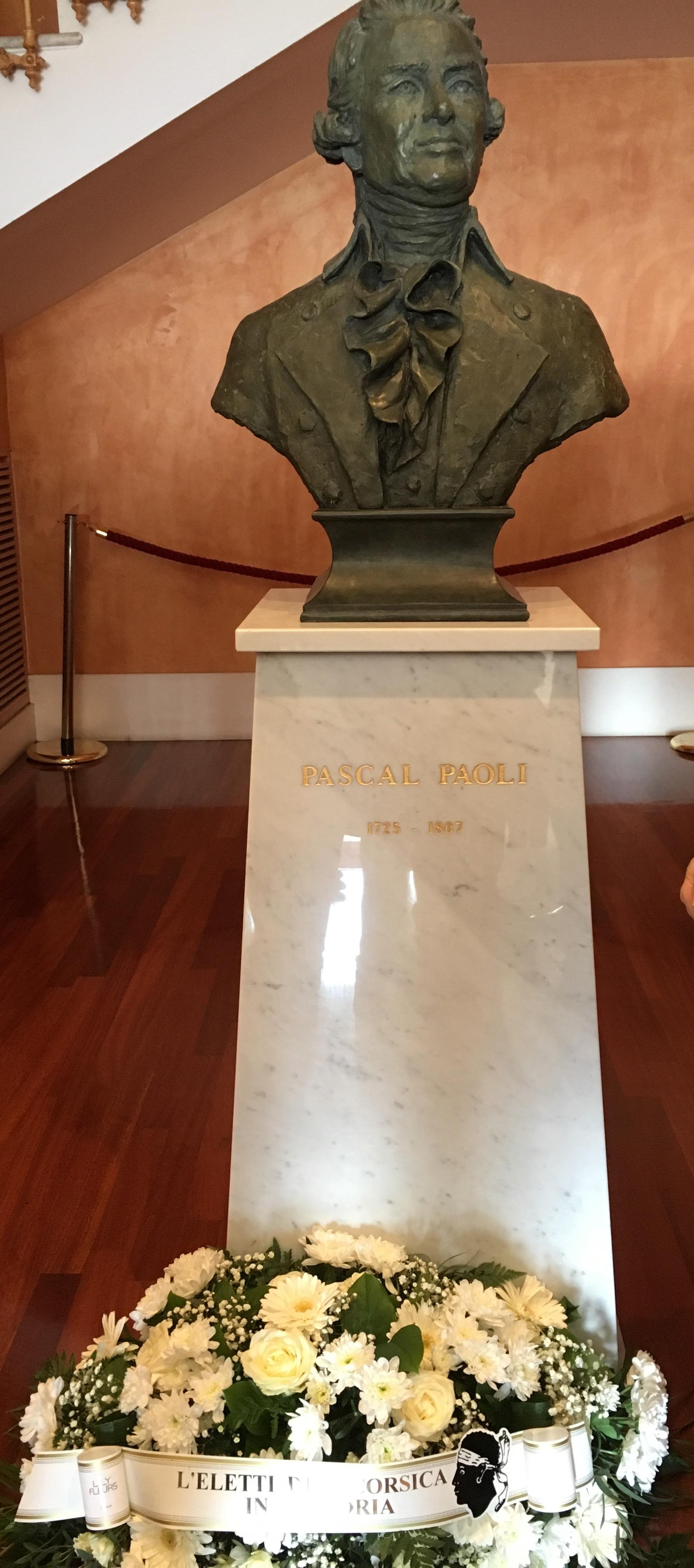 Ajaccio : Commémoration du 210ème anniversaire de la mort de Pasquale Paoli à la CTC