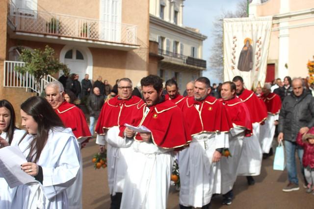 Augustin Andreani lors de la procession de Saint-Antoine il y a quelques semaines
