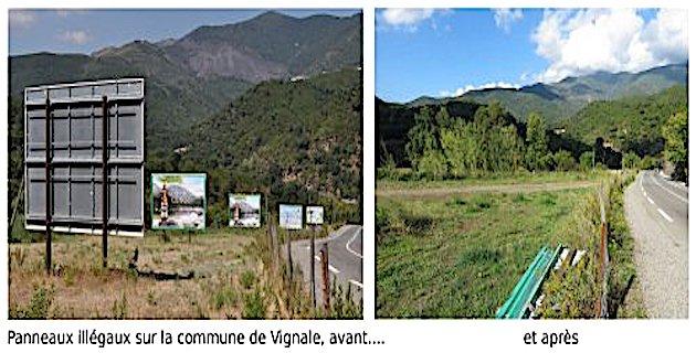 Panneaux publicitaires illégaux en Corse : Premiers démontages