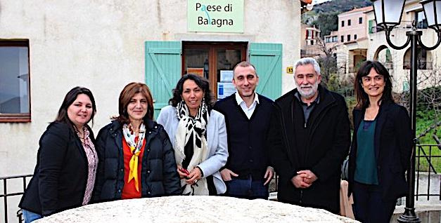 De gauche à droite Marie-France Dabrin, Elisabeth Santelli, Antoinette Salducci, Jean Christophe Angelini, Paul Lions et Florence Bonifaci