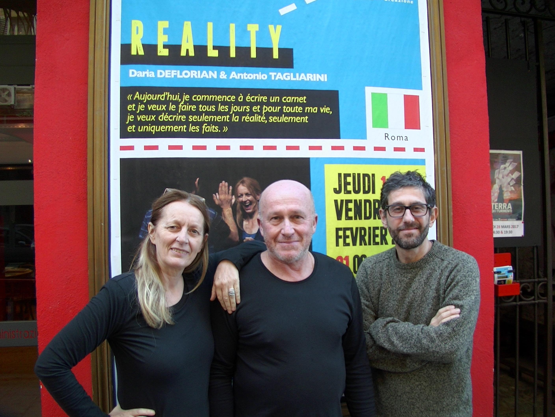Daria Deflorian, François Bergoin (théâtre Alibi) et Antonio Tagliarini