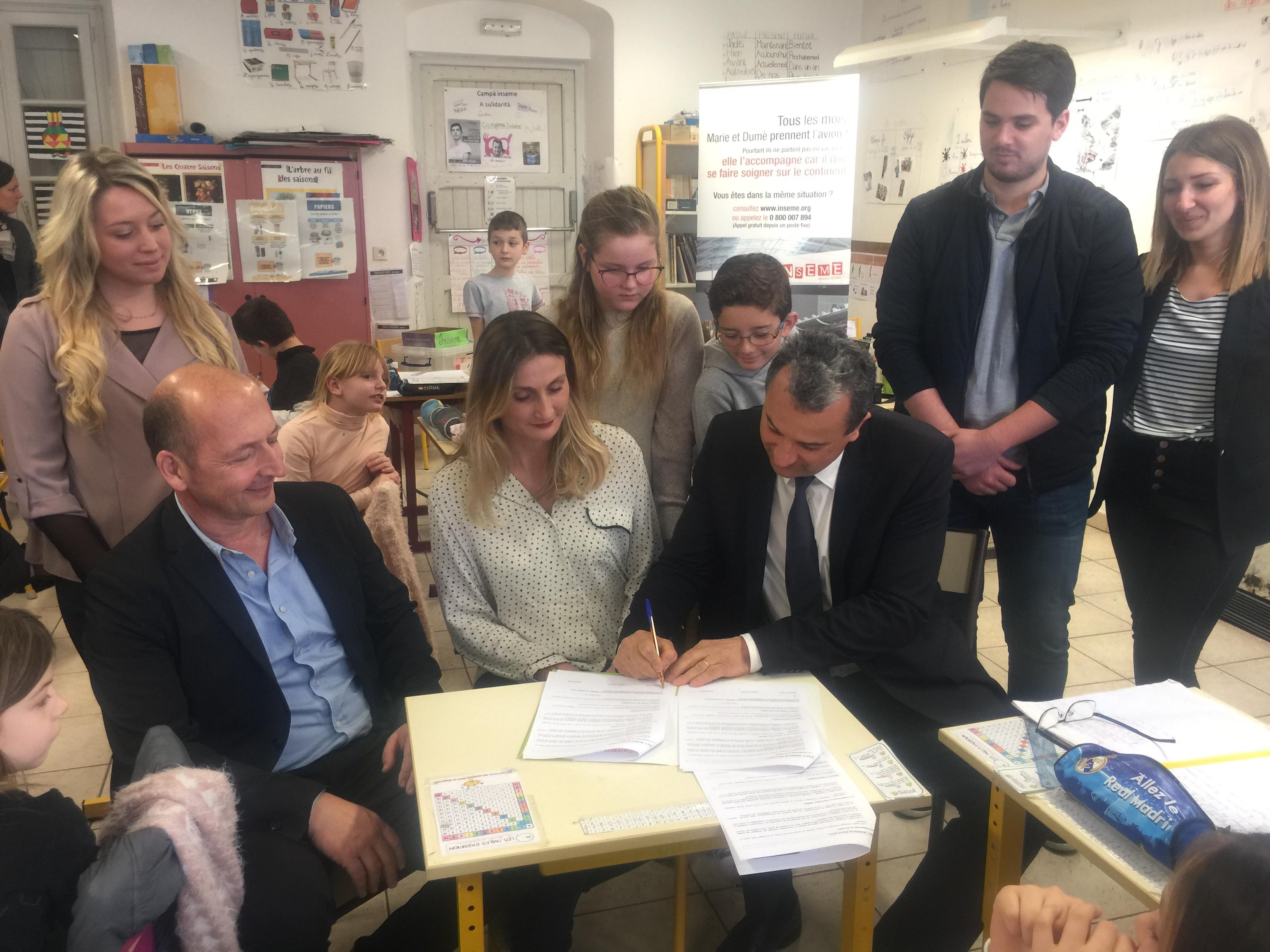 Recyclage : Les élèves de l'école primaire de Vescovato collectent les stylos usagés