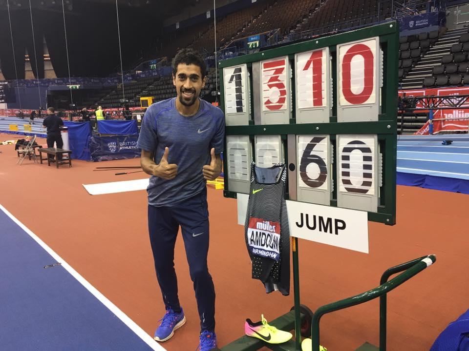 Record de France du 5 000 m en salle pour Amdouni à Birmingham
