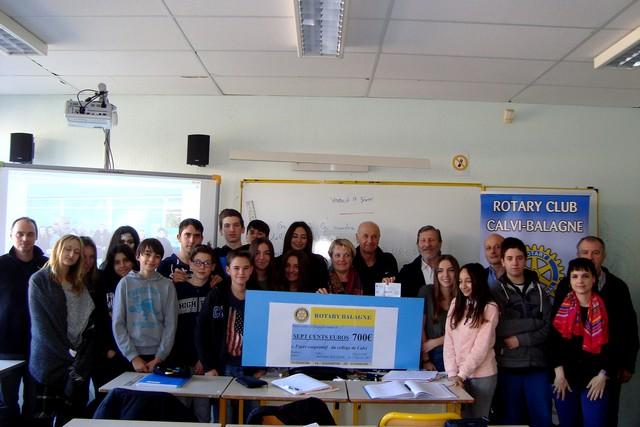 """""""Clémentines de l'espoir"""" : Les collèges de Calvi et de L'Ile-Rousse récompensés pour leur participation"""