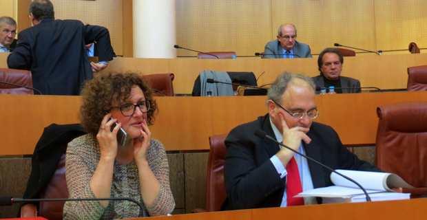 Maria Guidicelli et Paul Giacobbi, groupe Prima a Corsica.