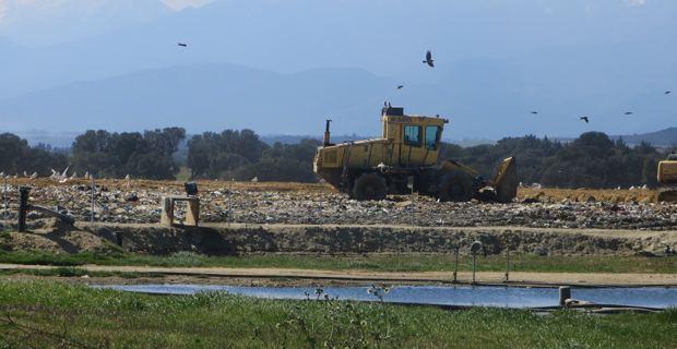 Le centre d'enfouissement des déchets de Tallone.