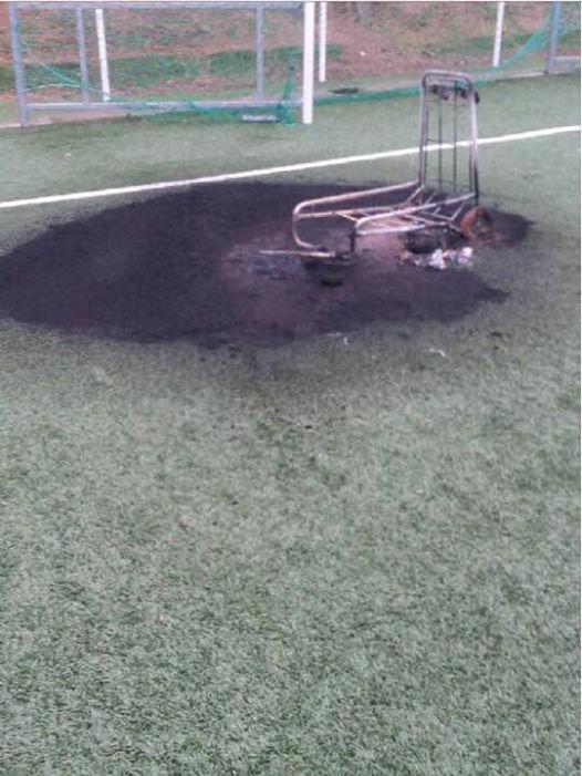 Ajaccio : Le terrain de football de la Sposata vandalisé