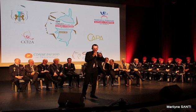 La grande famille des sapeurs-pompiers de Corse-du- Sud au Palais des Congrès