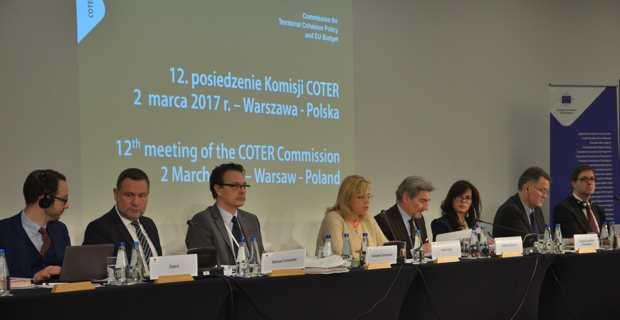 La réunion de la COTER à Varsovie les 2 et 3 mars 2017.