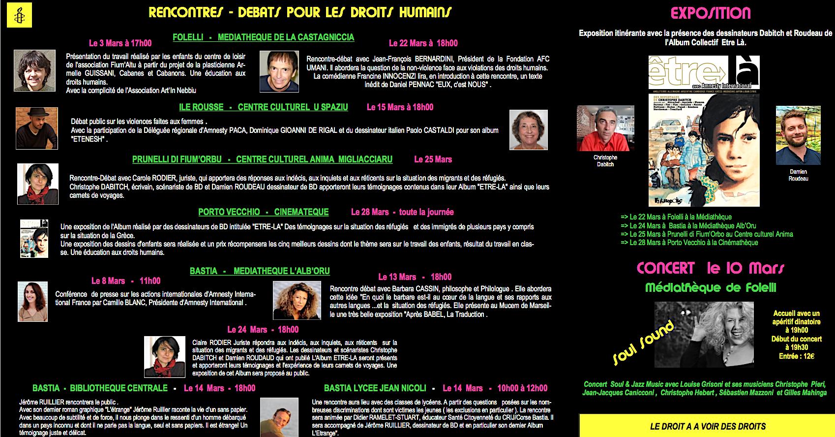 Le festival du film « Au cinéma pour les droits humains » d'Amnesty international  passe par la Corse