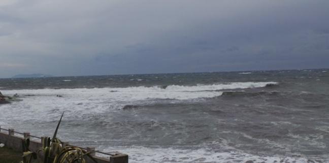 Forte tempête hivernale sur la Corse. Vents violents et vagues de 5 mètres sur la façade occidentale