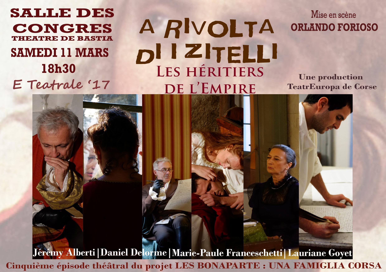 """""""A rivolta di i zitelli"""" au Théâtre de Bastia le 11 mars"""