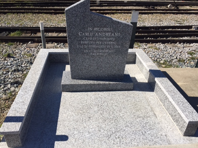 Une stèle à la mémoire de Charles Andreani inaugurée à la gare de Bastia