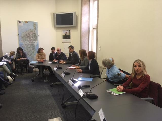 Rencontre en préfecture d'Ajaccio autour de la Journée Internationale des femmes