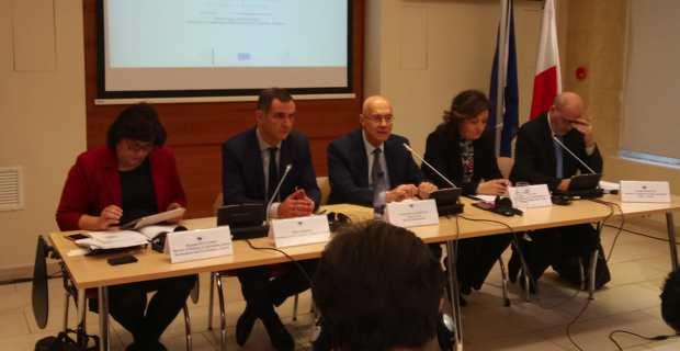 Gilles Simeoni à la conférence sur l'énergie circulaire à Valletta à Malte.