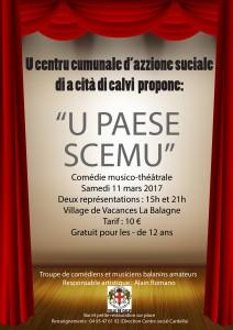 """Deux représentations de la comédie musico-théâtrale """"U paese scemu"""" samedi à Calvi"""
