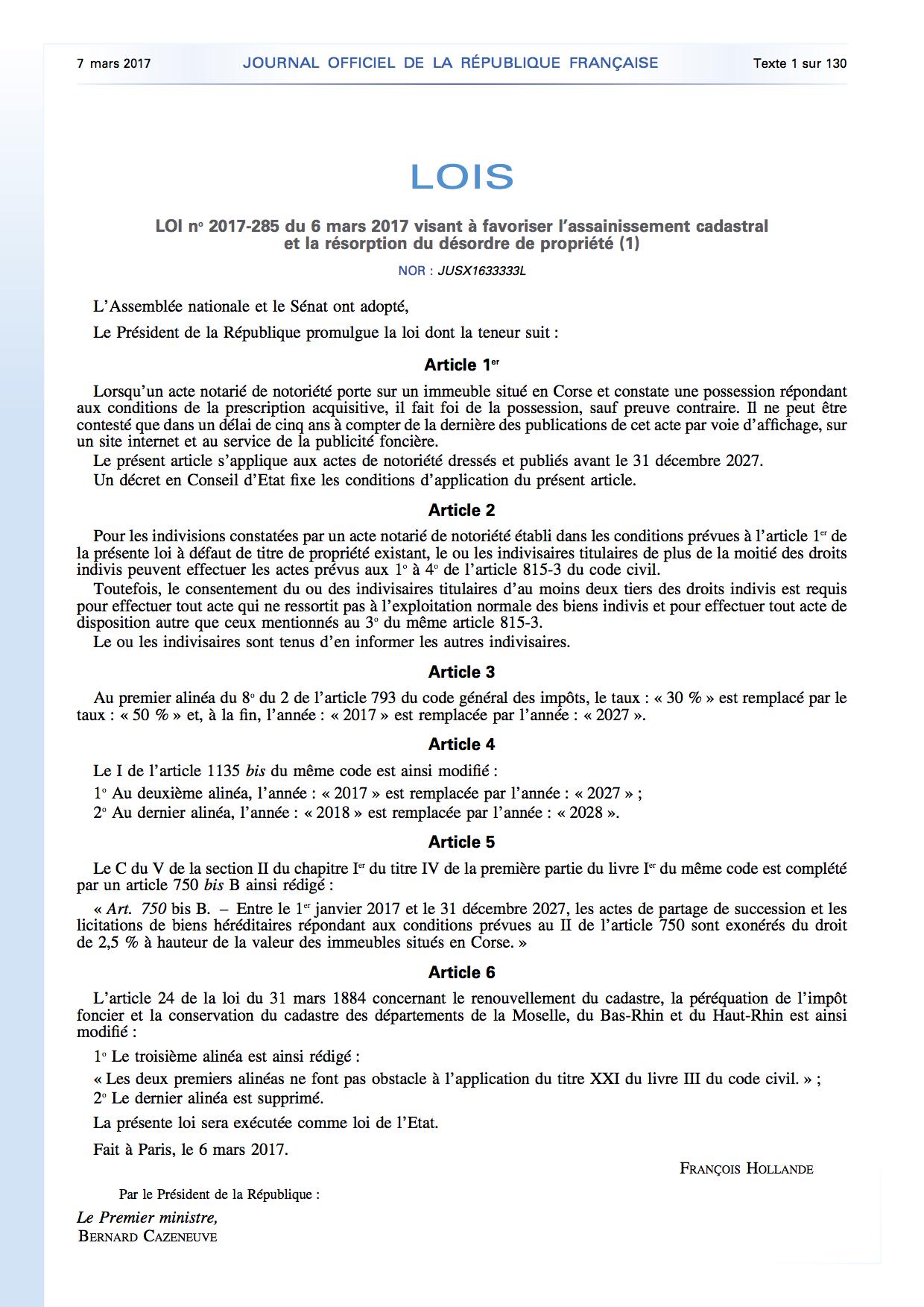 """La loi sur le désordre foncier est promulguée et applicable : """"La Corse dispose de 10 ans pour s'organiser"""""""