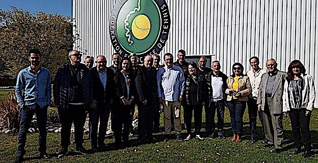 Philippe Medori à la gauche de Bernard Giudicelli assuerera l'interim jusqu'à l'AG du 17 décembre