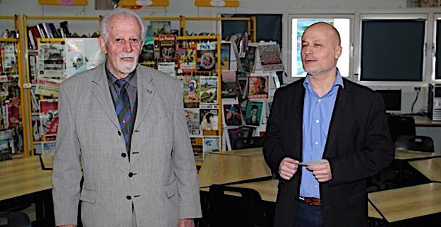 La Fédération nationale André-Maginot remet un chèque de 2 000€ au collège de Calvi