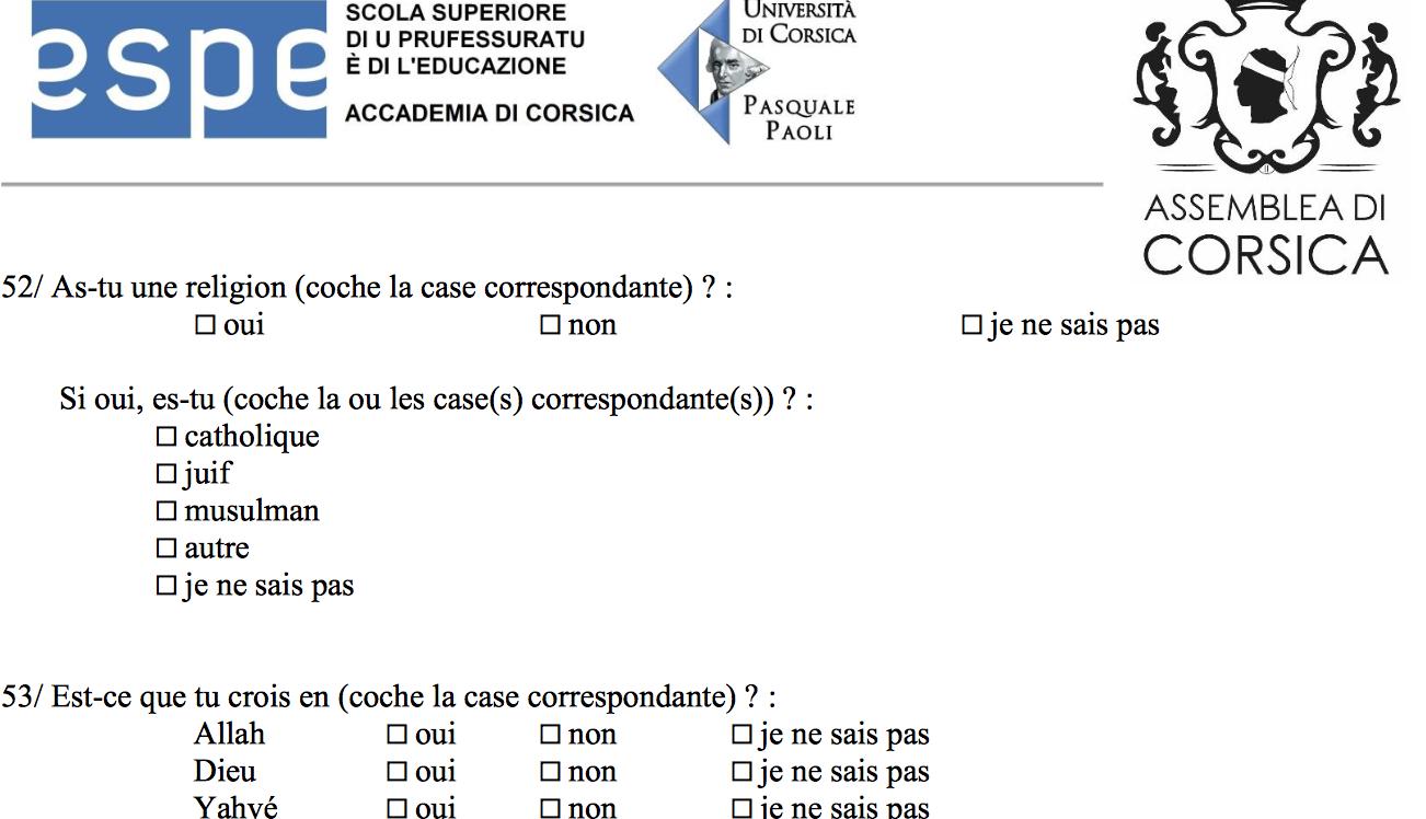 """Enquête sur la """"diversité en Corse"""" : """"Aucun questionnaire dans les établissements scolaires"""""""