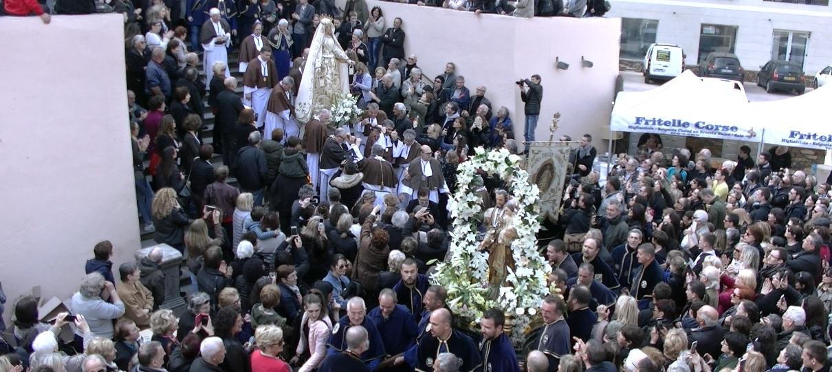 San Ghjisè et Madonna Fiumarola : Procession commune dans les rues bastiaises
