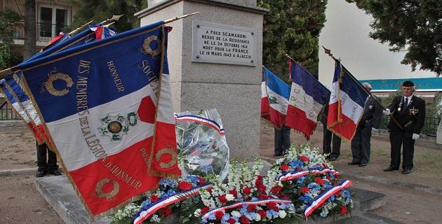 Résistance : Cérémonie d'hommage à Fred Scamaroni à Ajaccio