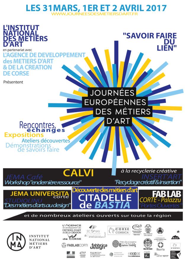 Les journées européennes des métiers d'art en Corse du 31 mars au 2 avril