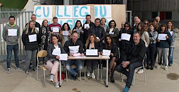 Biguglia : Les enseignants, soutenus par les parents d'élèves, en grève au collège !
