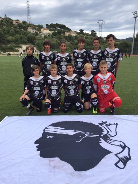 Les U15 du F C Squadra Calvi disputent  la 1/2 finale de coupe de Corse