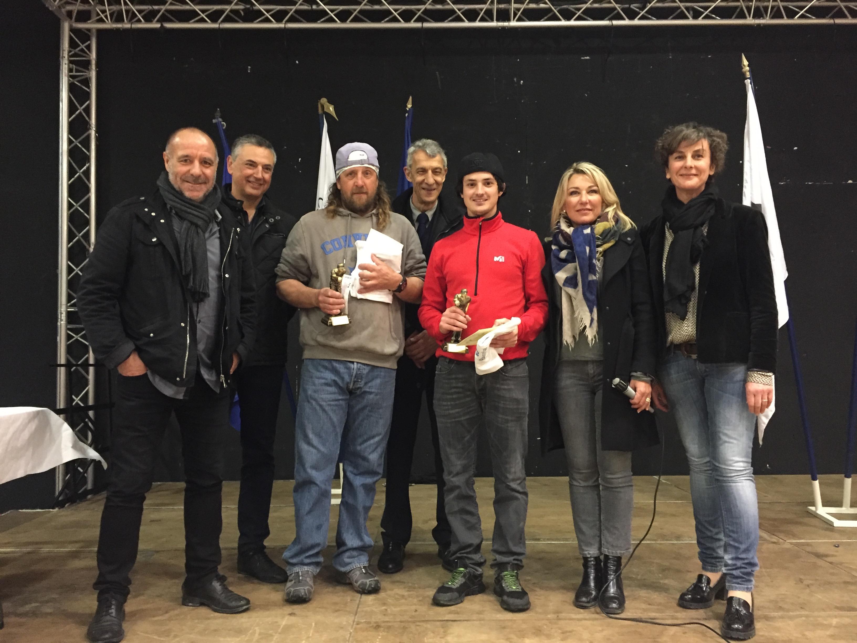 Les vainqueurs du concours Jean-Pierre Tolaini et Jean Guidoni